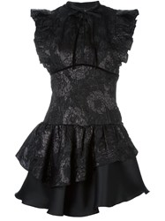 Christian Pellizzari Floral Jacquard Dress Black