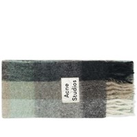 Acne Studios Vally Multi Scarf Green