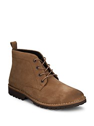 Kenneth Cole Leather Chukka Boots Camel