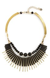 Women's Nakamol Design Metal Bar Statement Necklace Black