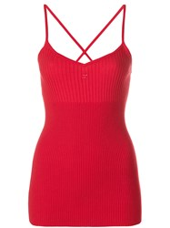 Courreges Tank Top Red