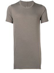 Rick Owens Slim Fit Long T Shirt Grey