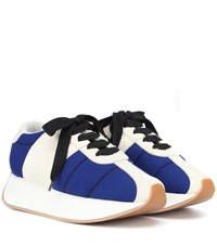 Marni Suede And Mesh Sneakers Blue
