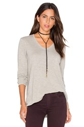 Wilt Vintage V Neck Long Sleeve Top Gray