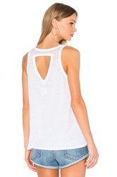 Chaser Open Triangle Back Flounce Tank White