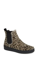 Cycleur De Luxe Bansko Genuine Calf Hair Chelsea Bootie Animal Print Calf Hair