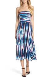 Felicity And Coco Strapless Midi Dress Painter Stripe