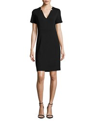 T Tahari Notched Detailed Sheath Dress Black