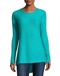 Neiman Marcus Cashmere High Low A Line Tunic Yellow