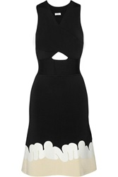 Issa Show Martine Coated Stretch Knit Dress Black