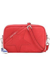 Golden Goose Star Leather Shoulder Bag Red