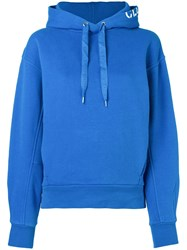 Closed Oversized Logo Hoodie Blue
