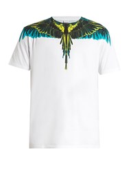 Marcelo Burlon Valentin Cotton Jersey T Shirt White Multi