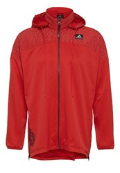 Adidas Performance Windmill Tracksuit Top Scarlet Red