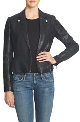 1.State Women's Faux Leather Moto Jacket