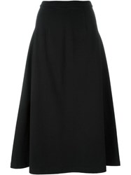 T By Alexander Wang A Line Midi Skirt Black