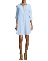 Rails Sawyer Long Sleeve Chambray Shirtdress Light Vintage Wash