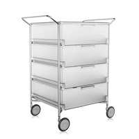 Kartell Mobil 4 Drawer Handles And Wheels Ice