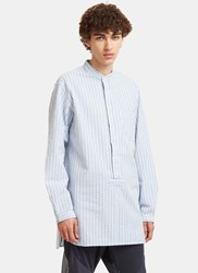 Snow Peak Long Striped Shirt White
