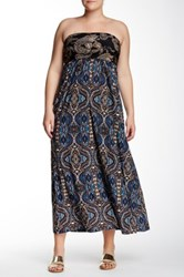 24 7 Comfort Abstract Paisley Tube Maxi Plus Size Multi
