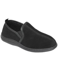 L.B. Evans Klondike Memory Foam Suede Slippers Men's Shoes Black