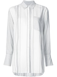 Elizabeth And James Striped Long Sleeve Shirt White