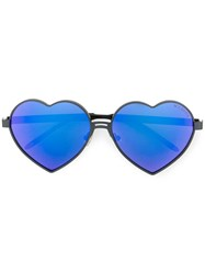Wildfox Couture Heart Shaped Sunglasses Blue