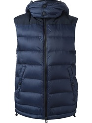 Burberry Brit Padded Hood Gilet Blue