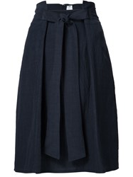 Damir Doma Pleated Front Skirt Blue