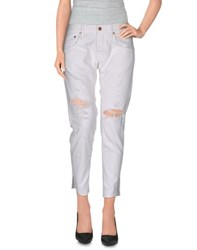 People Trousers 3 4 Length Trousers Women White