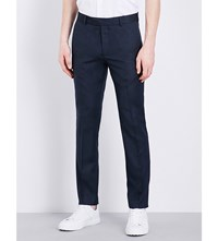Tiger Of Sweden Euan Slim Fit Straight Wool Blend Chinos Navy