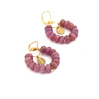 Salome Tribal Collection Branded Ruby Earrings Red