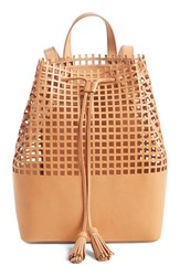 Loeffler Randall Perforated Leather Backpack