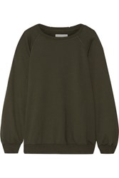 The Great Bubble Cotton Jersey Sweatshirt Army Green