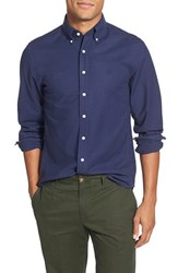 Men's Gant 'The Perfect Oxford' Trim Fit Long Sleeve Sport Shirt Preppy Blue