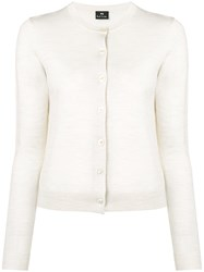 Paul Smith Ps By Crew Neck Cardigan Neutrals