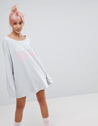 Wildfox Couture Ready For Bed Nightshirt Blue Ribbon