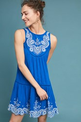 Meadow Rue Wadden Embroidered Dress Sapphire