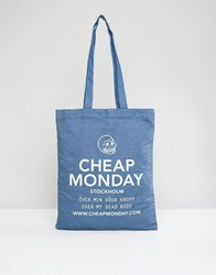 Cheap Monday Denim Shopper Bag Luv Blue