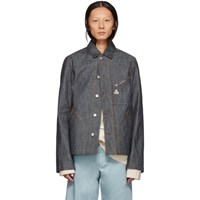 Loewe Blue Botanical Denim Jacket