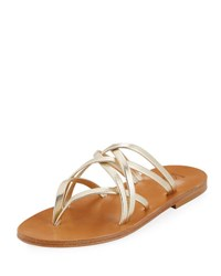 K. Jacques Aloes Strappy Slide Sandal Champagne