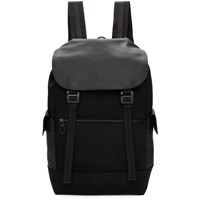Bottega Veneta Black Hi Tech Canvas Sassolungo Backpack