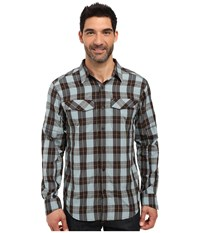 Columbia Silver Ridge Plaid L S New Cinder Heathered Plaid Men's Long Sleeve Button Up Multi