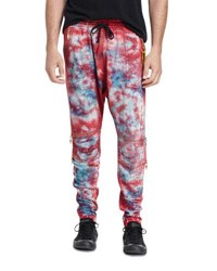 Robin's Jeans Paint Splatter Moto Jogger Pants White Black Red