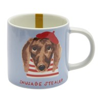 Joules Mischievous Mutts Cuppa Mug Blue Dog