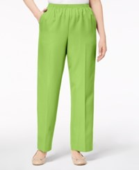 Alfred Dunner Petite Pull On Pants Palm Green
