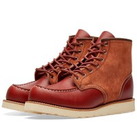 Red Wing Shoes 8819 Heritage Work 6 Moc Toe Boot Brown