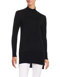 Lafayette 148 New York Rolled Mock Turtleneck Tunic Black