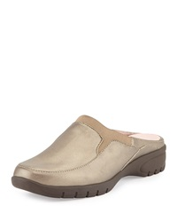 Avika Slip On Leather Mule Quartz Taryn Rose