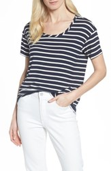 Draper James Casual Stripe Tee Navy Stripe